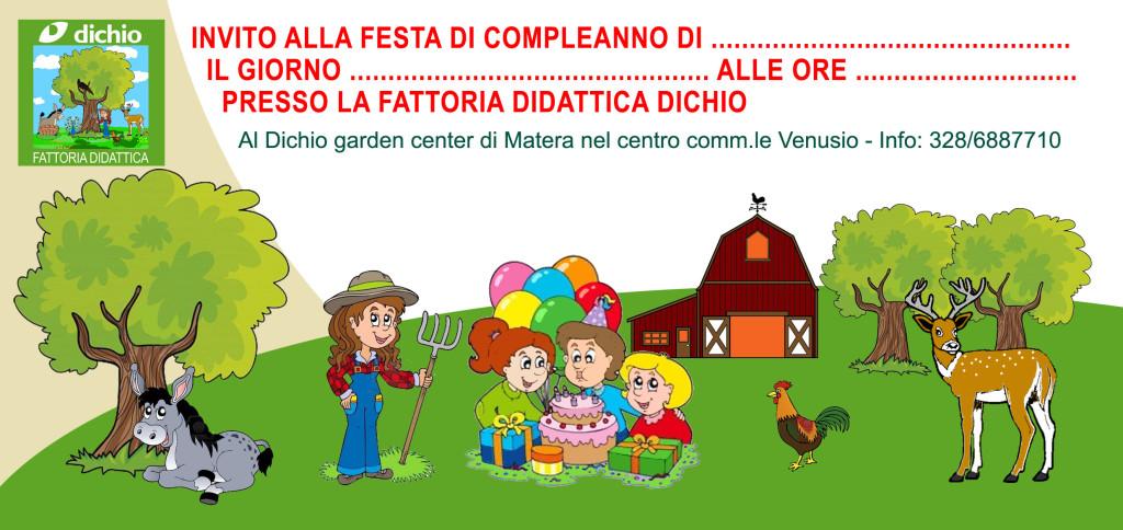 Invito compleanno in fattoria